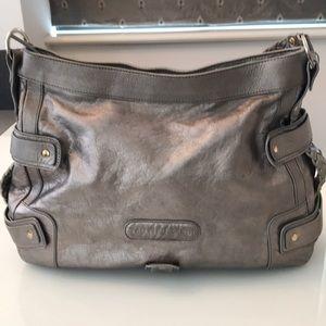 Tru Trussardi Silver leather bag!